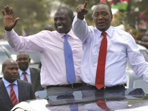 Deputy-President William Ruto and President Uhuru Kenyatta (AFP/Getty)