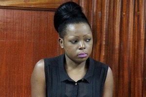 Laura Oyier Ogolla in Milimani court where she was charged that on diverse dates, she incured a debt of Sh229,505.75 in Intercontinental Hotel by falsely pretending that she was in a position to pay for the services rendered by the hotel. [PHOTO: GEORGE NJUNGE/STANDARD]