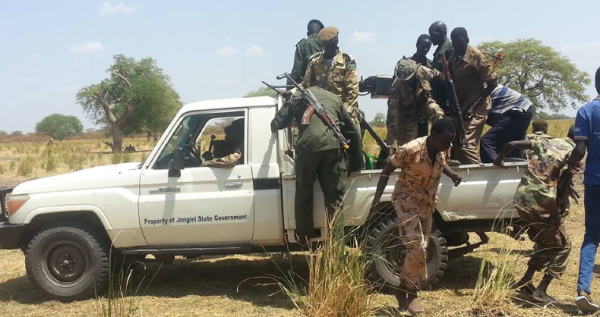 A truck, leveled as a property of Jonglei state government, under used somewhere within Jonglei state by the Opposition(Photo: file)