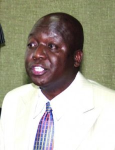 Jakoyo Midiwo Gem Mp Jakoyo Midiwo addressing journalists during a press conference at parliament building yesterday in which he distributed to journalists audio data of a Head of Civil Servant AMb. Francis Muthaura's voice in which he admits having stopped police from stopping atttacks by members of Mungiki since he was supporting PNU during the post election violence. (PHOTO: ANDREW KILONZI/ STANDARD)