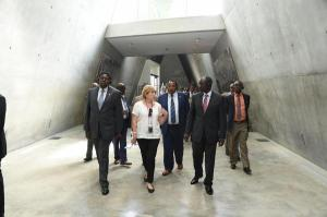 H.E William Ruto,CS Eugene Wamalwa and the Kenyan delegation arriving at the holocaust memorial
