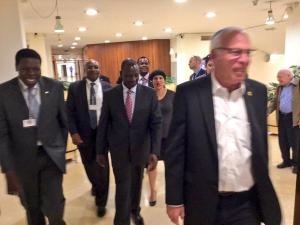 H.E @WilliamsRuto arriving for bilateral talks with Israeli Agric Min.Hon.Uri Ariel